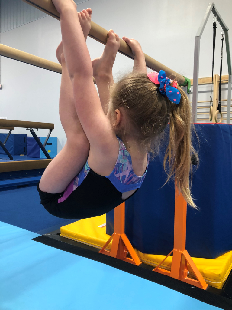 Girl doing gymnastics