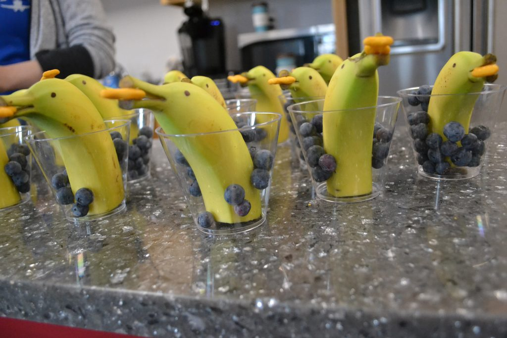 Bananas in glasses