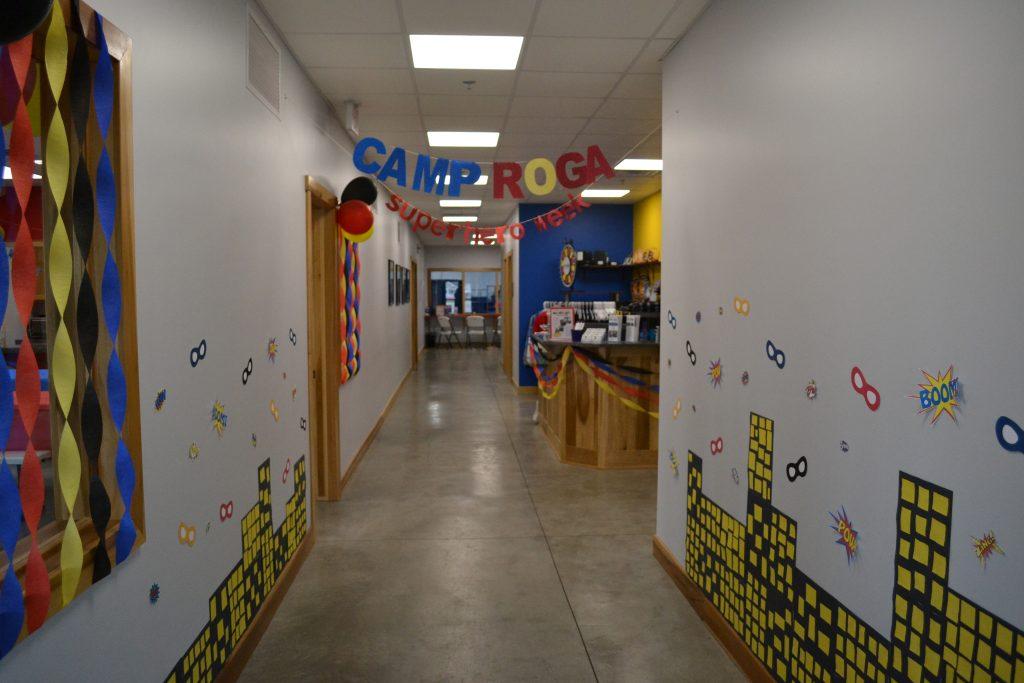 Hallway with Camp Roga sigange